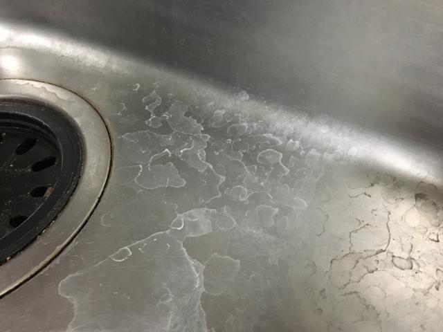 キッチンのシンクの水垢はクエン酸と重曹で綺麗にしよう!
