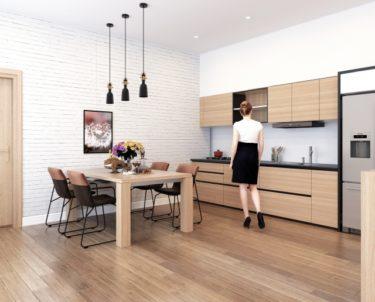 壁付けキッチンに家具を上手に配置して使いやすく快適に!